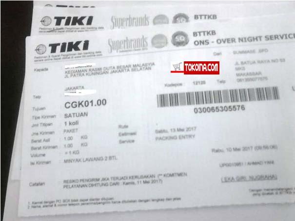 Terima Kasih Atas Orderan Duta Besar Malaysia di Tokoina.com 5
