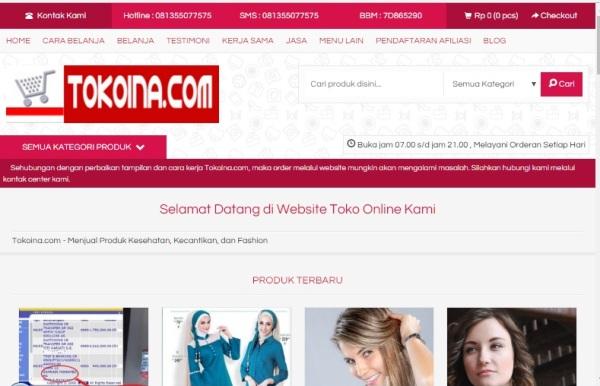Perubahan Tampilan dan Cara Kerja Tokoina.com 1