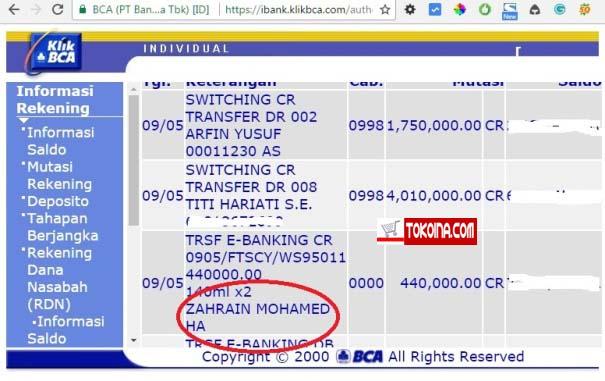 Terima Kasih Atas Orderan Duta Besar Malaysia di Tokoina.com 3