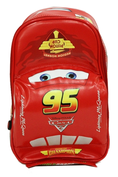 Tas Sekolah TK Cars On The Road 3D tampak depan