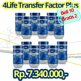 Paket Transfer Factor PLUS Beli 12 Bayar 10