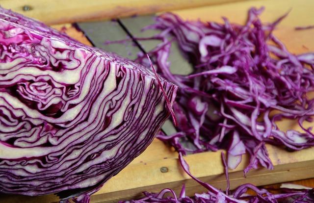 Makanan penurun hormon stres - kol merah