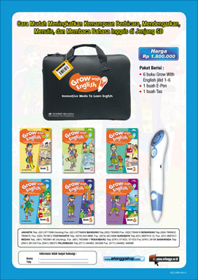 Paket Grow With English With E-Pen 4