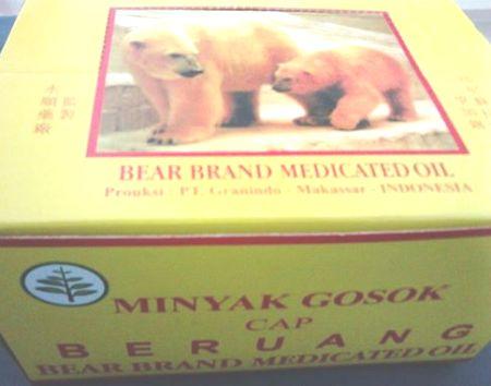 minyak gosok cap beruang dos