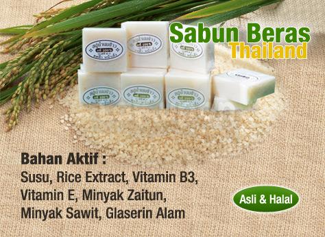 Paket Cream Pemutih Thai dan Sabun Beras Thailand 9